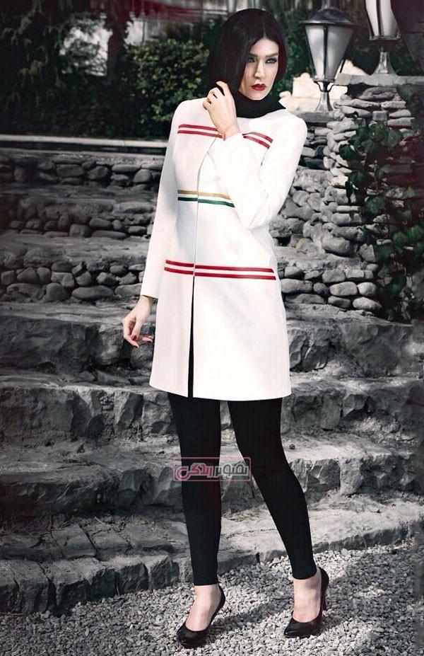 مدل مانتو سفید مجلسی - مدل جدید مانتو