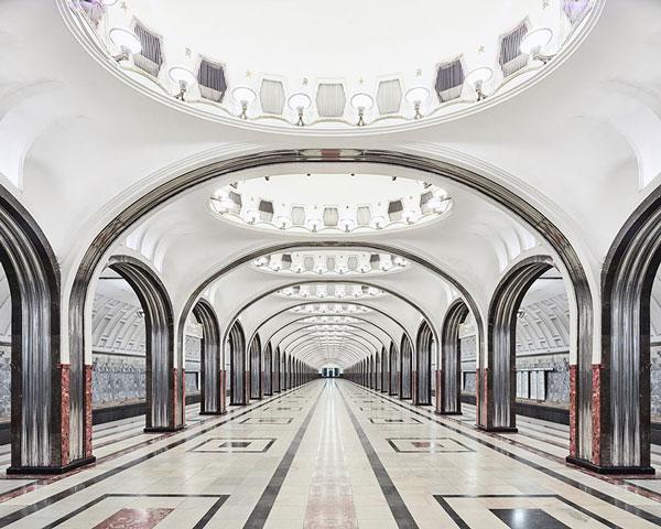 طراحی بی نظیر ایستگاه مترو در مسکو