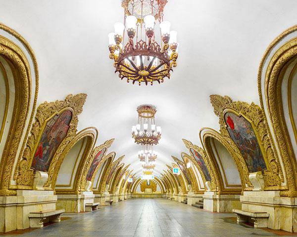 طراحی بی نظیر ایستگاه متروی مسکو