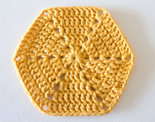 آموزش قلاب بافی - بافت شش ضلعی - موتیف شش ضلعی