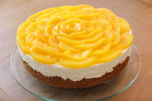 Image result for چیز کیک هلو