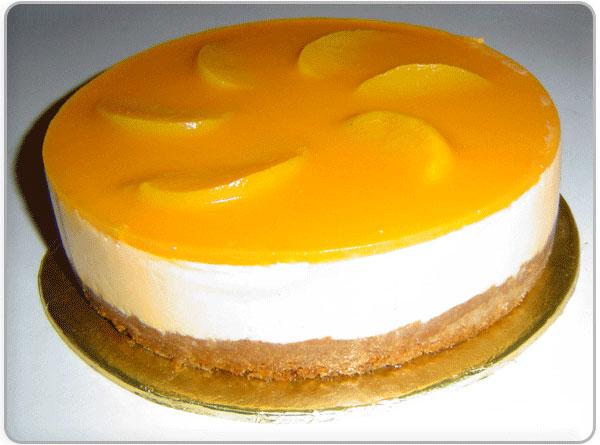 طرز تهیه چیز کیک هلو - دسر مجلسی