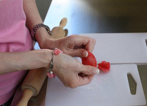 تزیین کیک - ساخت گل رز پاستیلی - گل رز شکری