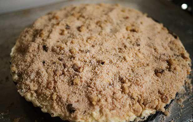 آموزش تصویری پخت تارت چیز کیک سیب