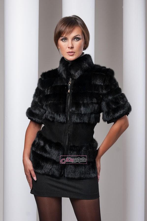 مدل کت خز زنانه - مدل پالتو زنانه - لباس چرم زنانه
