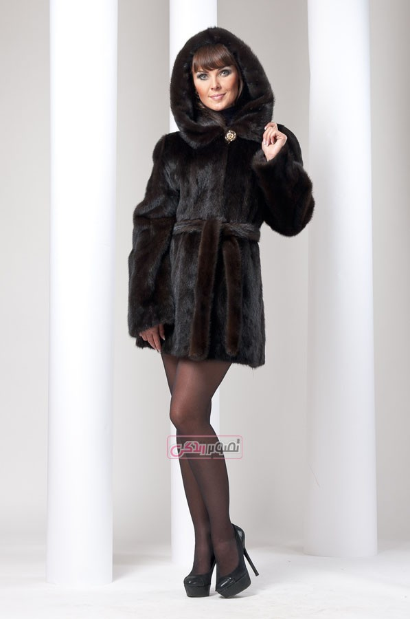 پالتو خز زنانه - مدل پالتو زنانه - لباس چرم زنانه
