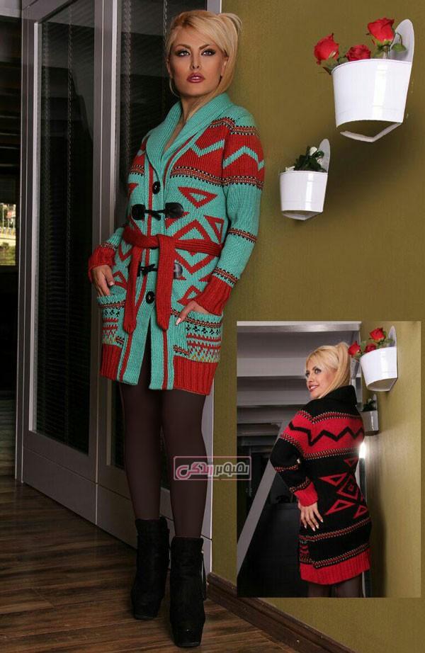 ژاکت بافتنی زنانه - مدل لباس زمستانی