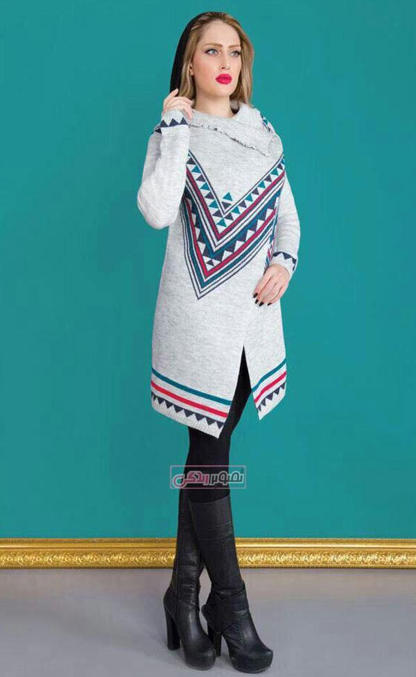 مدل مانتو بافتنی زمستانی
