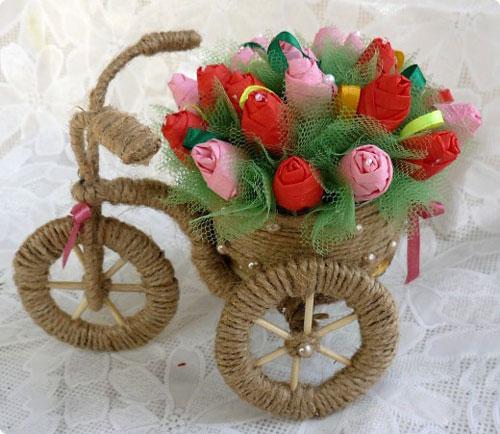 مانتو کنفی جدید آموزش ساخت کالسکه گل تزیینی زیبا - مجله تصویر زندگی