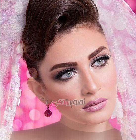 میکاپ عروس , شینیون موی عروس