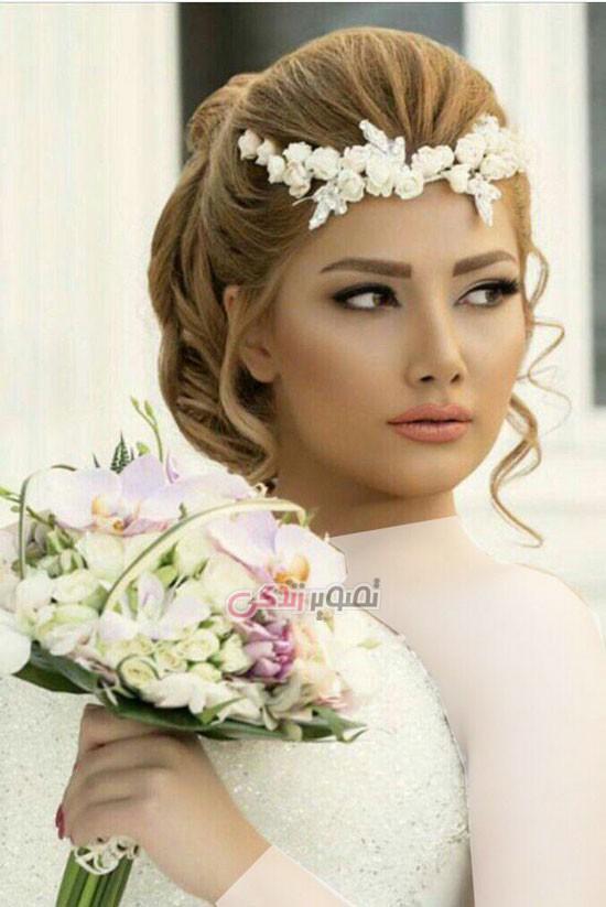 مدل تاج عروس - مدل موی عروس - مدل آرایش عروس