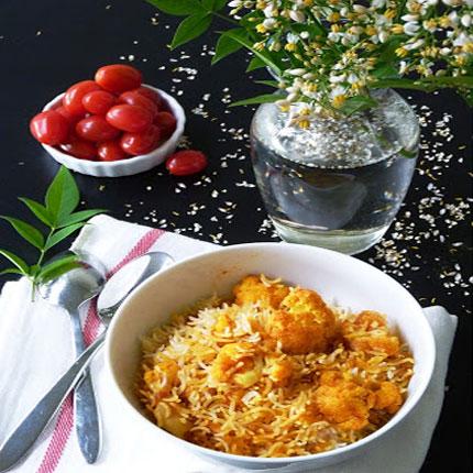 کلم پلو , گل کلم پلو با سبزیجات
