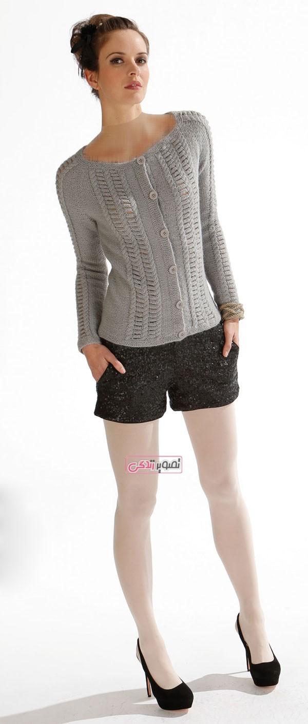 مدل ژاکت بافتنی زنانه - لباس دستباف زنانه