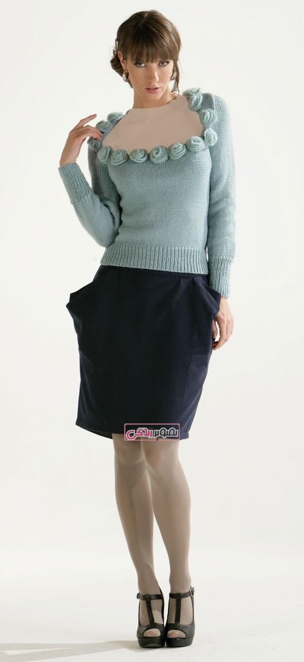 مدل بلوز بافتنی زنانه - لباس دستباف زنانه