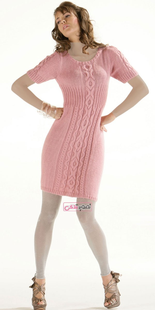 مدل تونیک بافتنی زنانه - مدل لباس دستباف زنانه