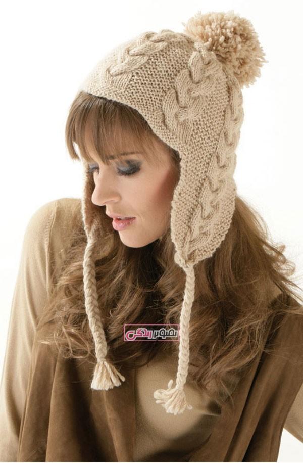 مدل کلاه بافتنی زنانه - لباس دستباف زنانه
