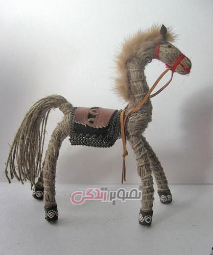 عروسک سازی با نخ کنفی