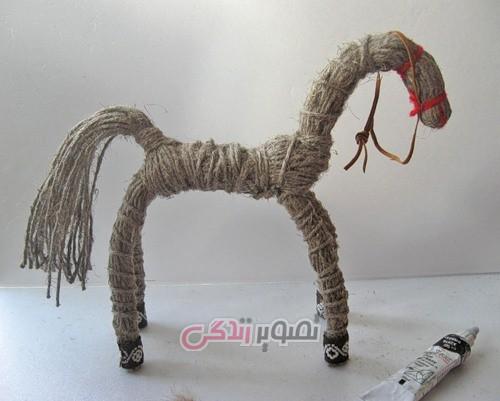 آموزش ساخت اسب با نخ گونی