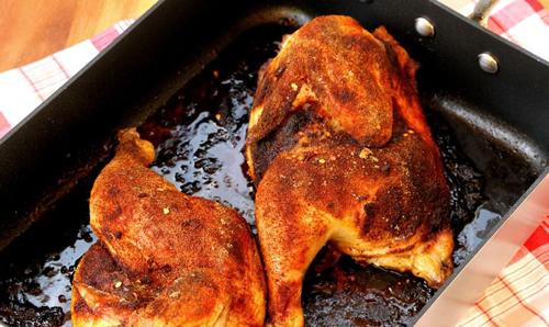 روش تهیه مرغ بریان به صورت تصویری