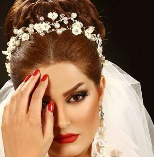 رنگ موی عروس 2018 ارایش عروس 2018 مدل موی عروس 2018