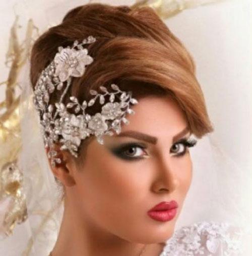 آرایش عروس ایرانی - شینیون عروس - مدل موی عروس