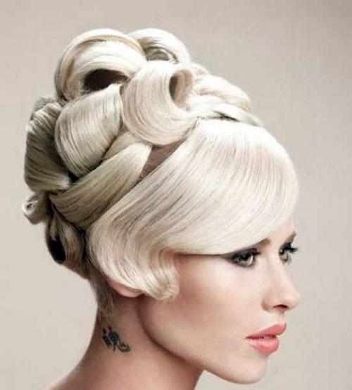 آرایش صورت عروس - شینیون موی عروس - آرایش موی عروس