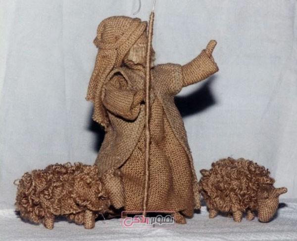 عروسک کنفی - کاردستی با کنف