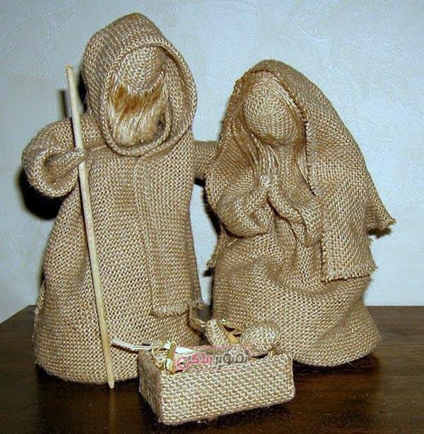 عروسک های کنفی - کاردستی با کنف