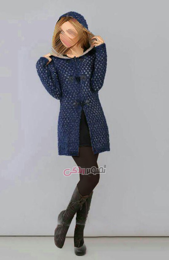 مدل مانتو بافت دخترانه - مدل مانتو بافتنی پاییزی
