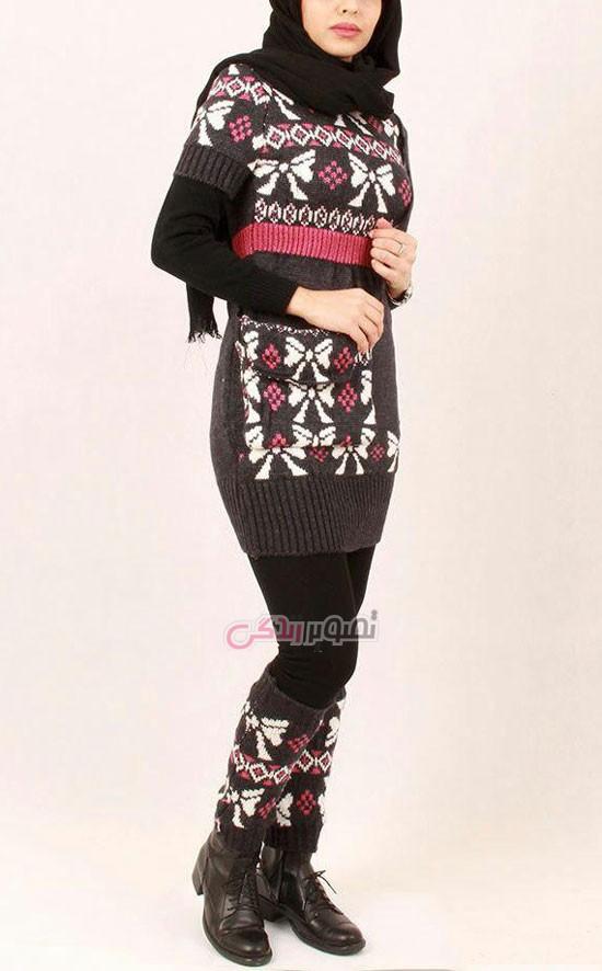 مدل مانتو بافت دخترانه - مدل مانتو زمستانی