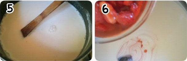 طرز تهیه محلبی توت فرنگی