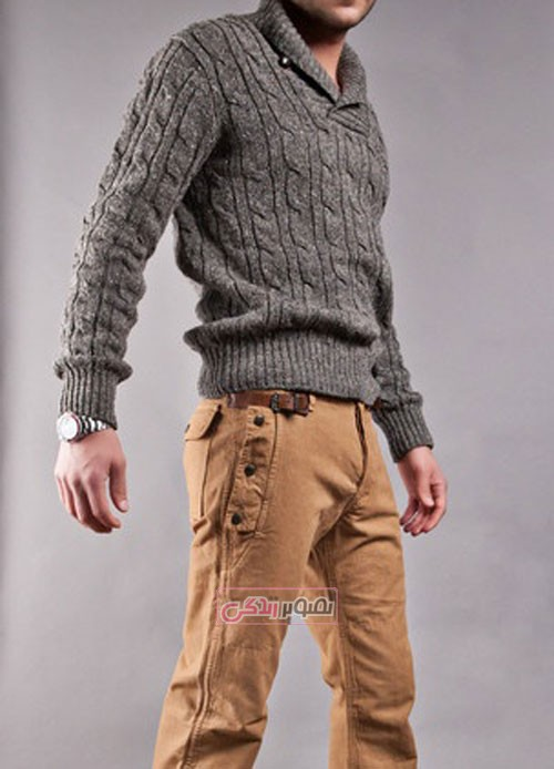 مدل بلوز دستباف مردانه - مدل لباس بافتنی مردانه