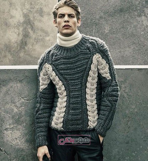 مدل بلوز مردانه دستباف - مدل لباس بافتنی مردانه