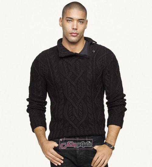 مدل پلیور دستباف مردانه - مدل لباس بافتنی مردانه