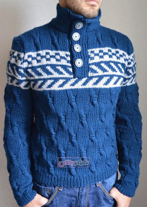 مدل پولیور دستباف مردانه - مدل لباس بافتنی مردانه