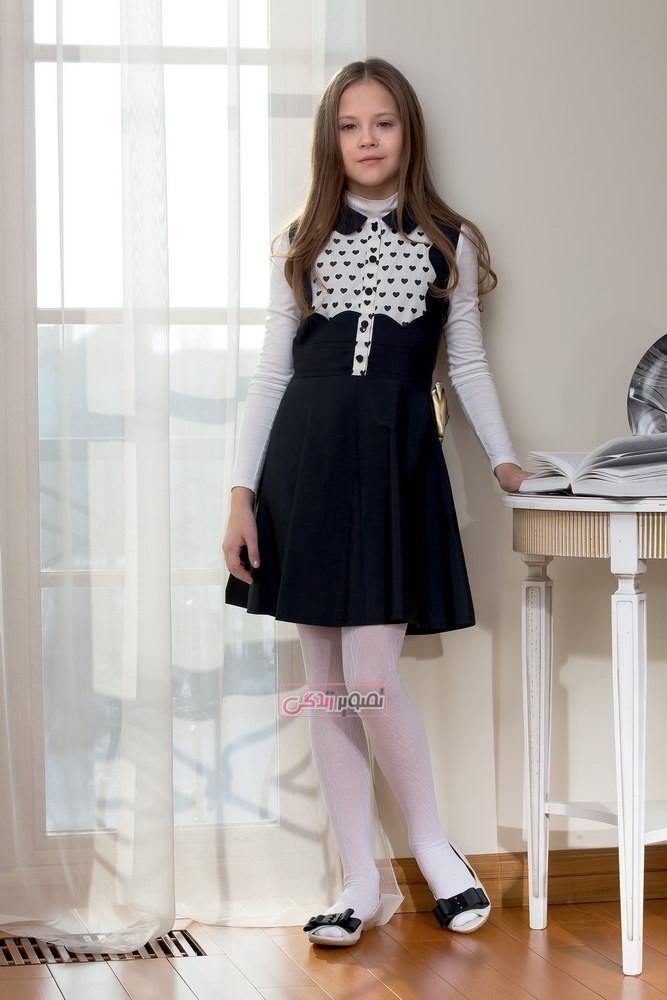 مدل های جدید سارافان دخترانه - مدل لباس پاییزی بچه گانه