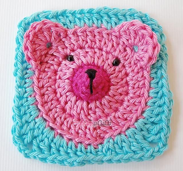 آموزش قلاب بافی - بافت پتو بچه - موتیف خرس تدی