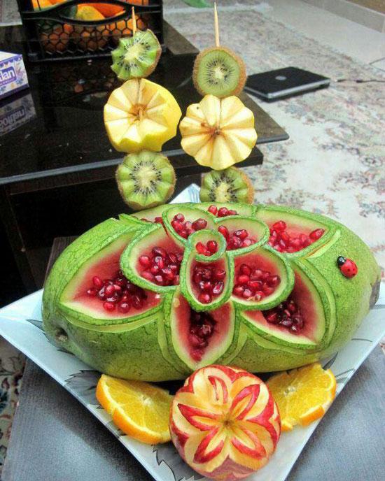 میوه آرایی , تزیین سفره شب یلدا