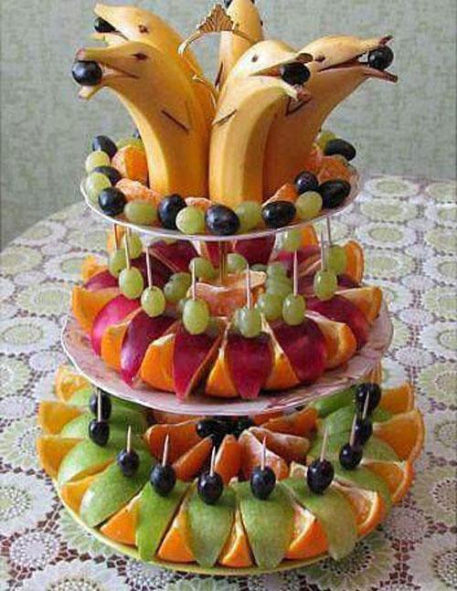 میوه آرایی , تزیین سفره یلدا , تزیین میوه شب یلدا