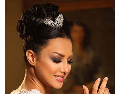 آرایش عروس ایرانی , میکاپ عروس,مدل موی عروس ,شینیون عروس