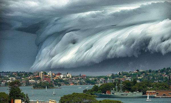 سونامی ابرها در آسمان سیدنی