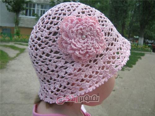 کلاه دخترانه بافتنی - کلاه دستباف دخترانه - مدل کلاه تورباف
