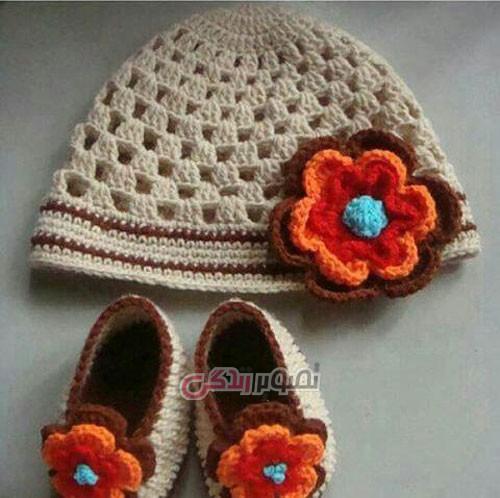 مدل کلاه دختر بچه - تزیین کلاه با گل