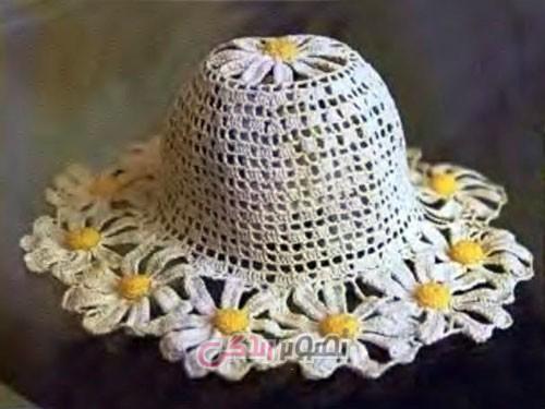کلاه دخترانه بافتنی - کلاه دستباف دخترانه - مدل کلاه بچگانه