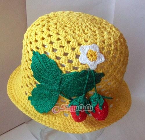 مدل کلاه دخترانه بافتنی - کلاه قلاب بافی دخترانه