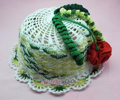 مدل کلاه دخترانه بافتنی - کلاه دخترانه قلاب بافی