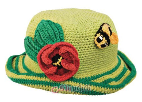 مدل کلاه دخترانه - کلاه قلاب بافی - مدل کلاه بافتنی