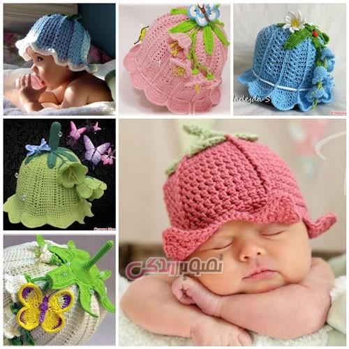 مدل کلاه دخترانه - کلاه دستباف دخترانه - مدل کلاه بافتنی