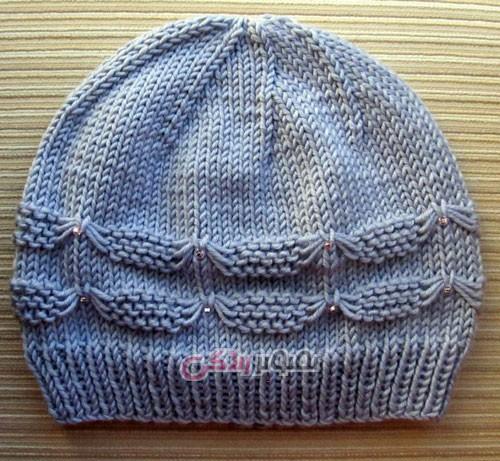 مدل کلاه دستباف دخترانه - کلاه دخترانه بافتنی دو میل