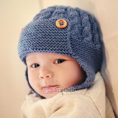 مدل کلاه بافتنی دخترانه - کلاه دست باف دخترانه - کلاه کاموایی
